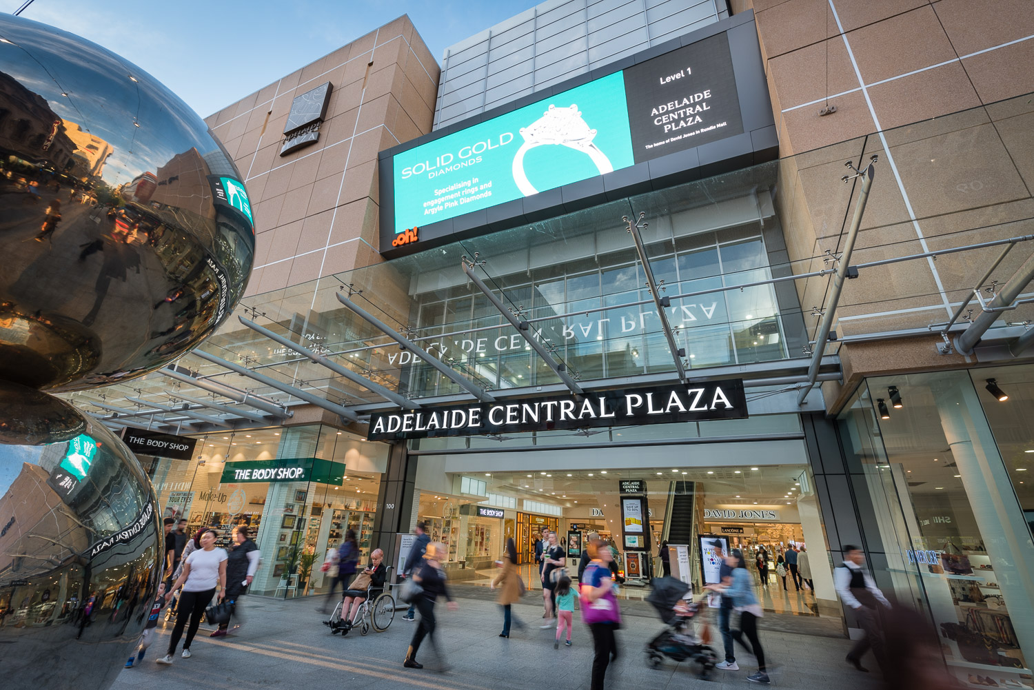 Rundle Mall Adelaide Central Plaza