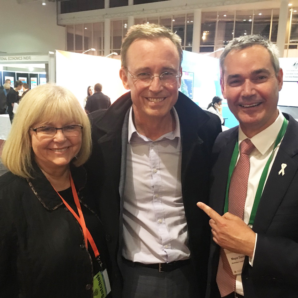 Australian Local Government Association ALGA Councillor Sue Clearihan Lord Mayor Martin haese and Mator David O'Loughlin City of Adelaide City of Prospect