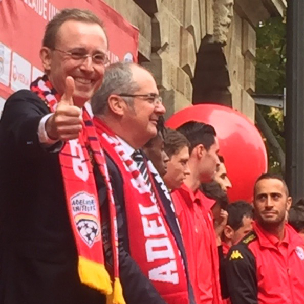 Lord Mayor Martin Haese and the Honourable Leon Bignell MP reception for the Adelaide United Soccer Club at Adelaide Town Hall