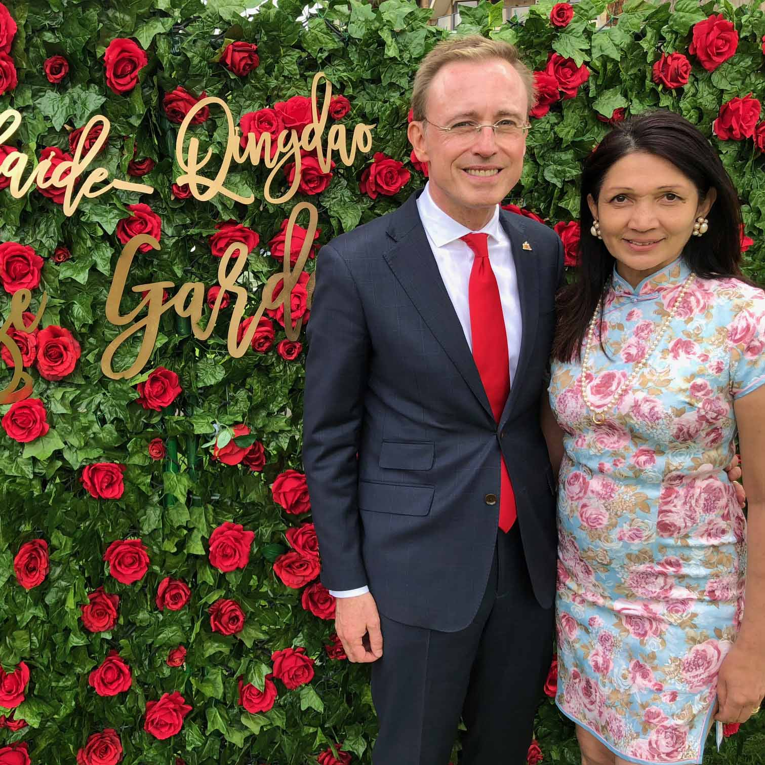 Qingdao City Shandong Province Sister City Garden Veale Gardens Adelaide Parklands Lord Mayor Martin Haese and Lady Mayoress Genevieve Theseira-Haese