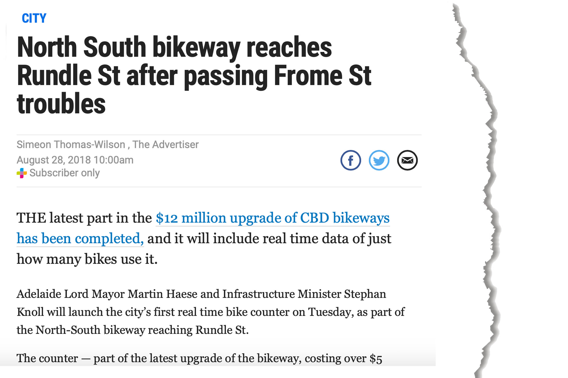 frome-road-bikeway-the-advertiser-28-august-2018 copy