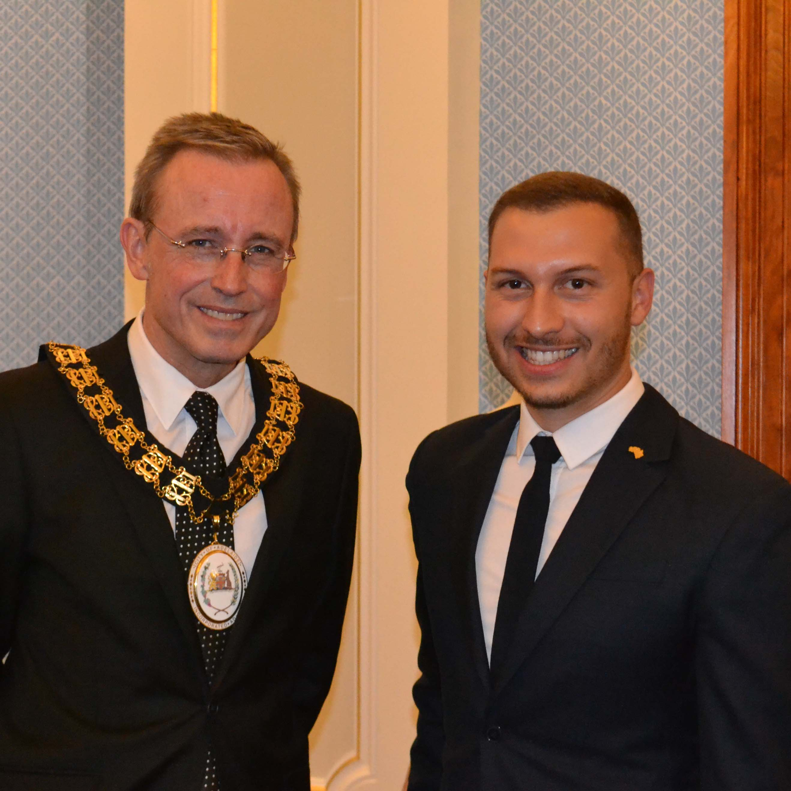 Lord Mayor Martin Haese at a civic reception for Paul Vasileff and Paulo Sebastian Young Australian of the Year 2017 Australia Day Council