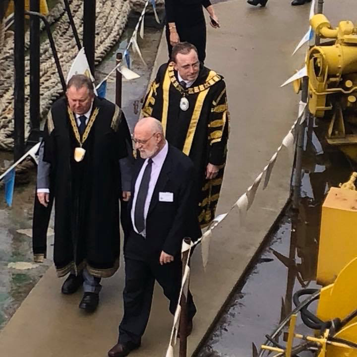 Lord Mayor Martin Haese and Mayor Gary Johansen Port Adelaide City of Adelaide clipper ship