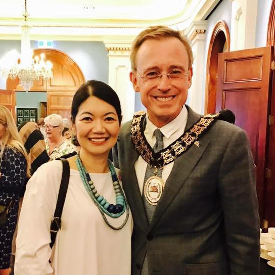 Lord Mayor Martin Haese with the Honourable Jing Lee MLC