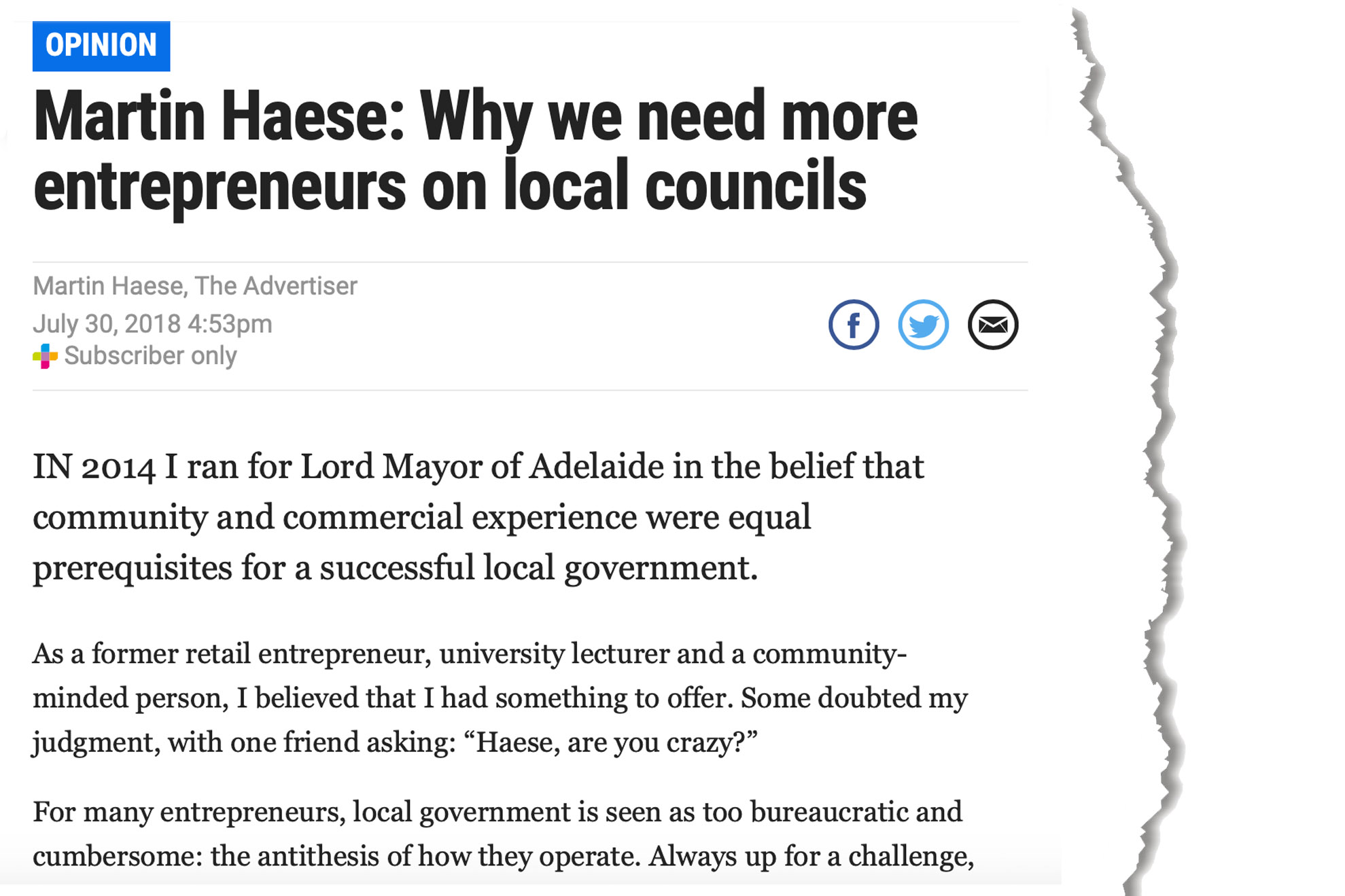 martin-haese-entrepreneurs-the-advertiser-30-july-2018