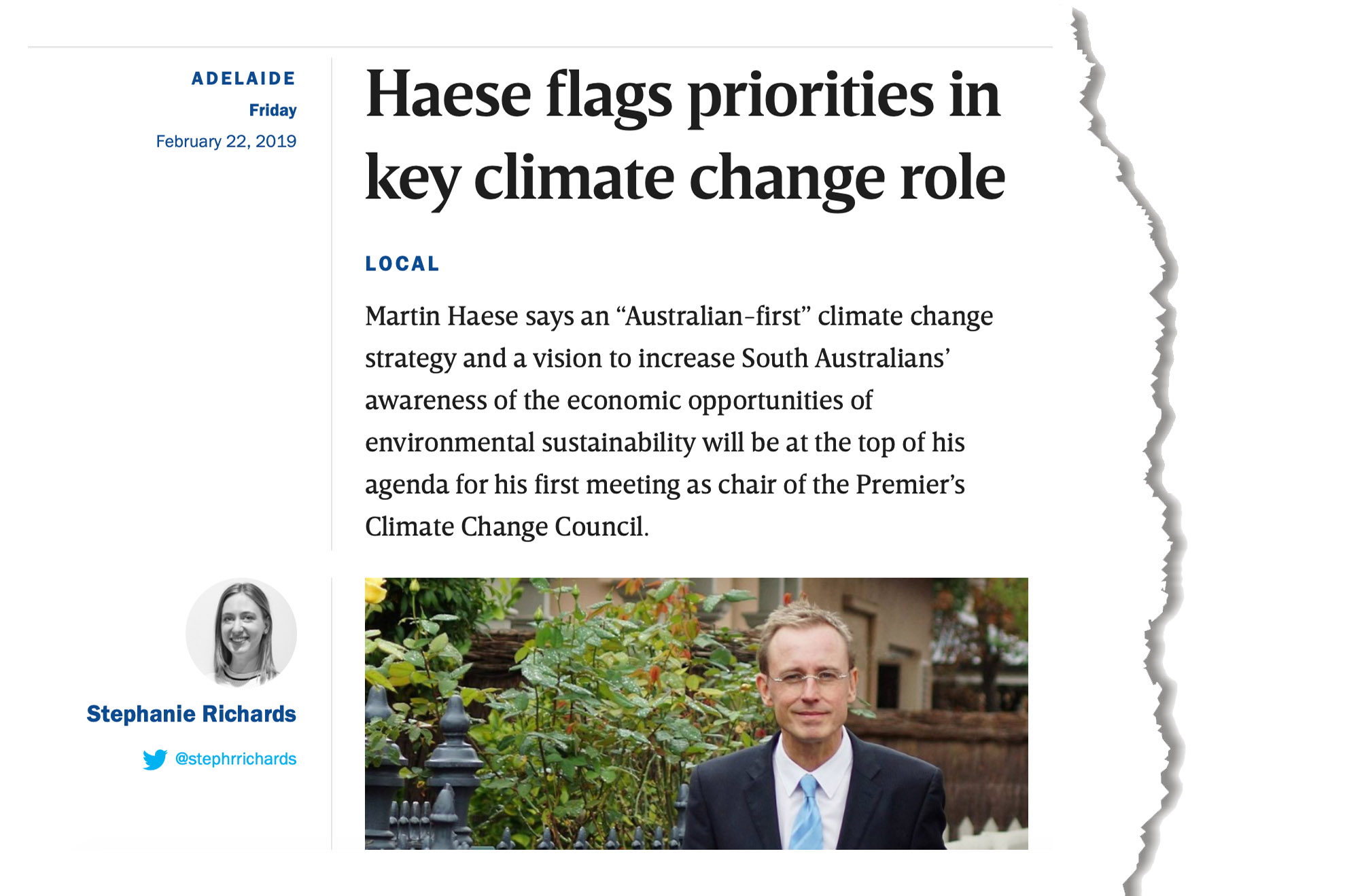martin-haese-premiers-climate-change-council-in-daily-22-february-2019