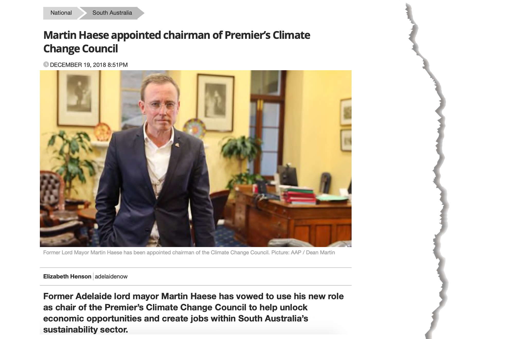martin-haese-premiers-climate-change-council-news-com-au-19-december-2018