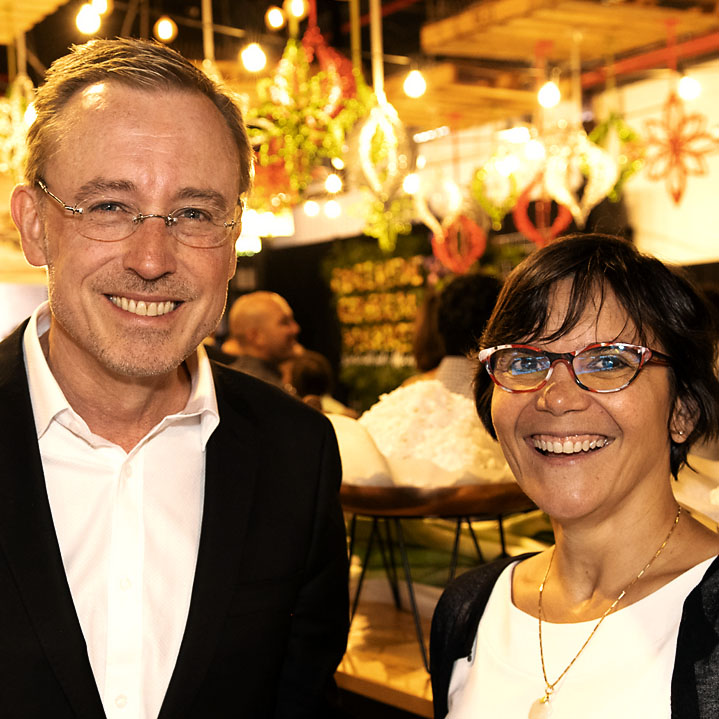 Martin Haese with Shanti Ditter Adelaide Central Market book launch
