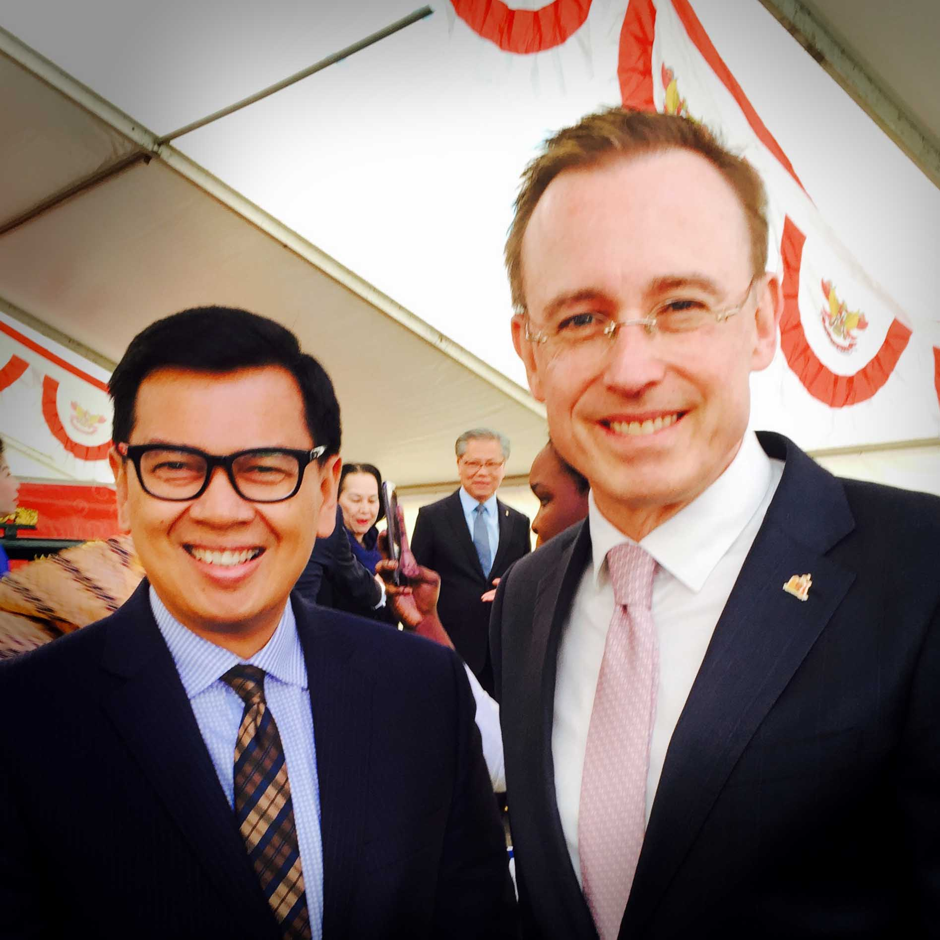 Lord Mayor Martin Haese with His Excellency Yohanes Kristiarto Soeryo Legowo Ambassador of Indonesia to Australia City of Adelaide IndoFest