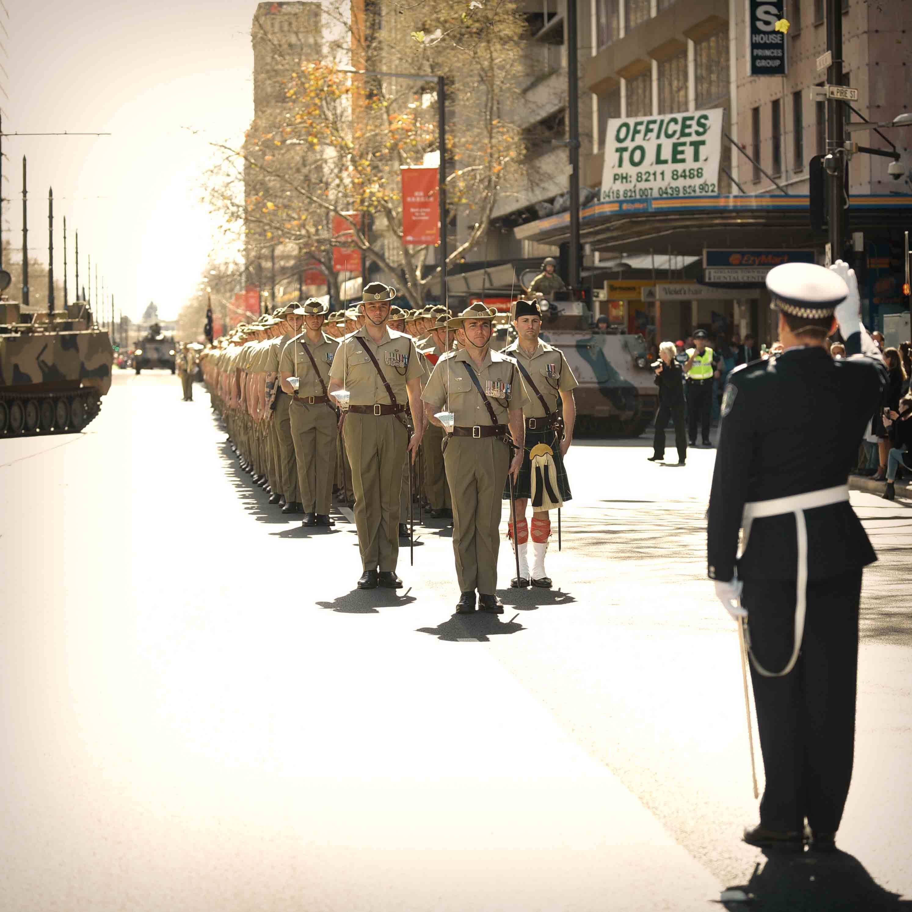 7th RAR Royal Australian Regiment Freedom of the City King William Street Adelaide