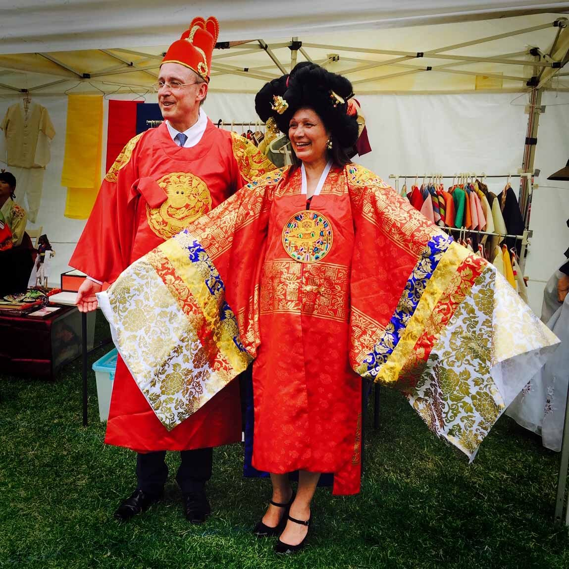 Lord Mayor Martin Haese Lady Mayoress Genevieve Theseira-Haese Korean Festival City of Adelaide