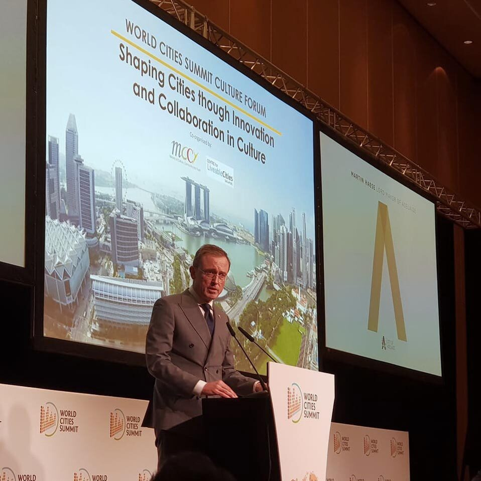 Lord Mayor Martin Haese World Cities Summit Singapore Marina Bay Sands