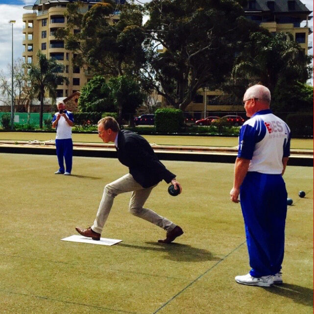 Adelaide Bowling Club Lord Mayor Martin Haese