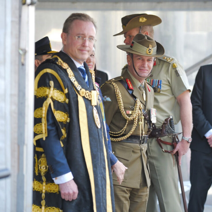 Lord Mayor Martin Haese 10th 27th Battalion review