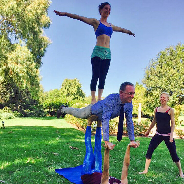 Lord Mayor Martin Haese Acro Yoga Adelaide Parklands