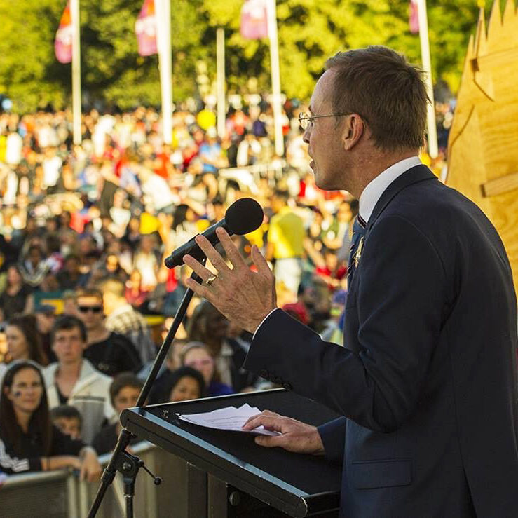 Lord Mayor Martin Haese Australia Day Adelaide City Council celebrations Elder Park