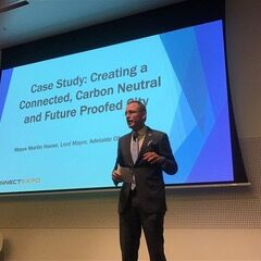 Lord Mayor Martin Haese, Carbon Neutral Adelaide presentation