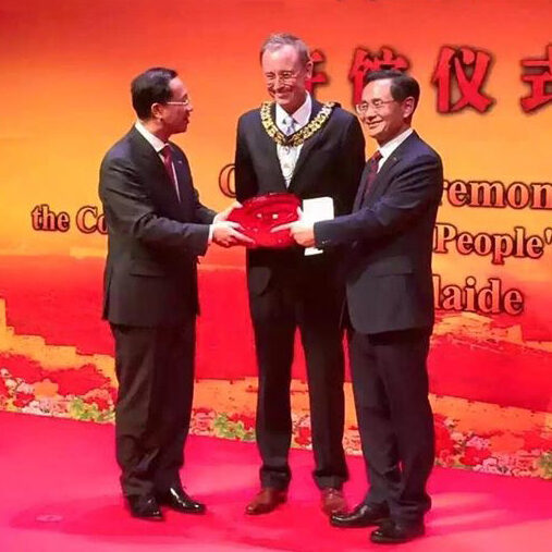 Lord Mayor Martin Haese with the Consul General People's Republic of China Adelaide