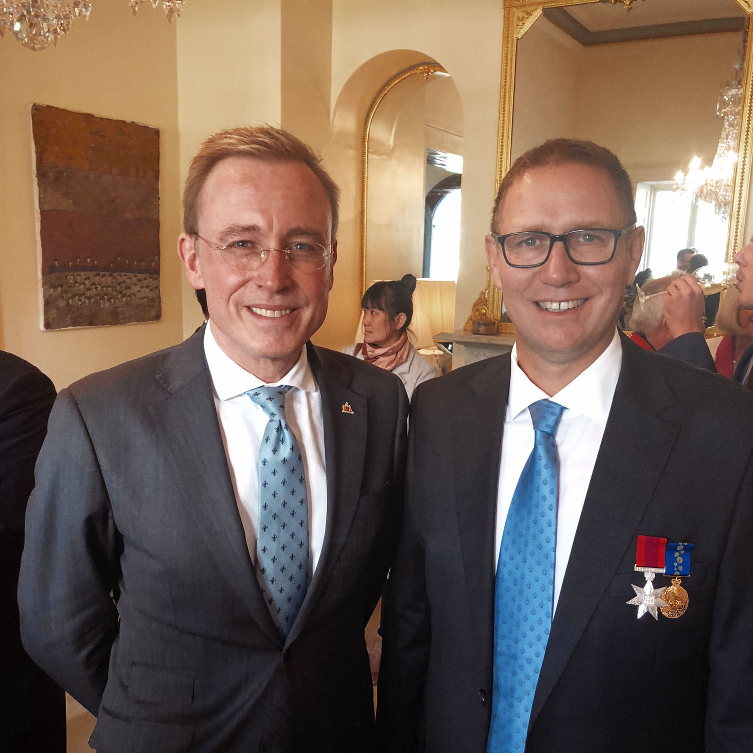 Lord Mayor Martin Haese with Doctor Richard Harris SC AOM Australian of the Year 2018 for his work during the Thai cave rescue