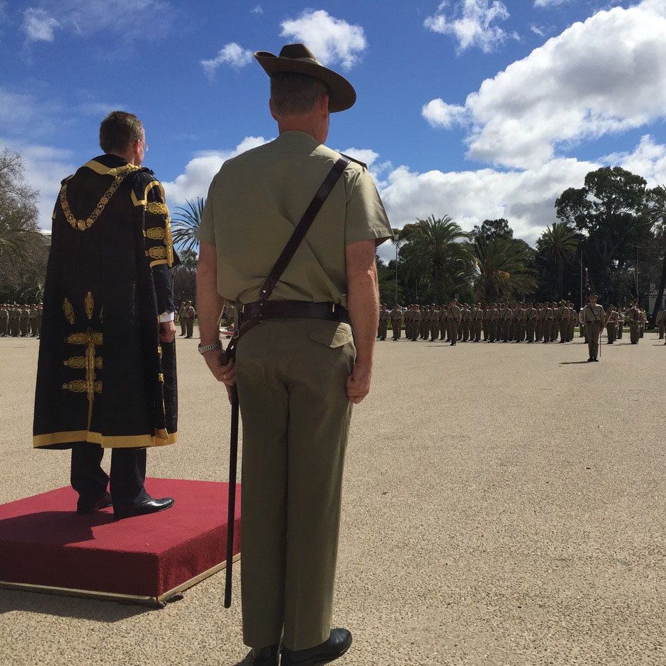 Lord Mayor Martin Haese Freedom of Entry 10th 27th Battalion Torrens Parade Ground Adelaide