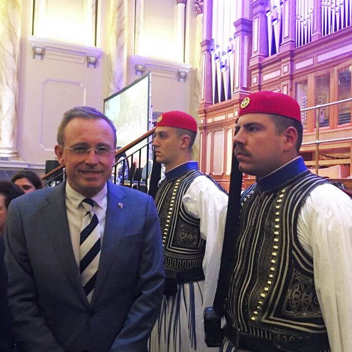 Lord Mayor Martin Haese Greek Evzones Adelaide Town Hall