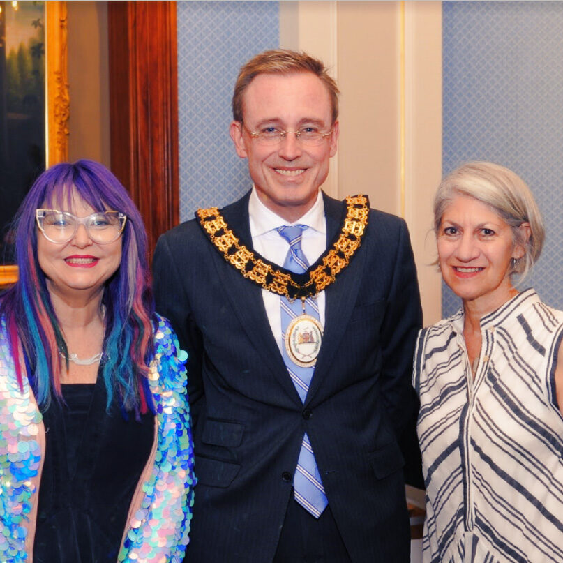 Lord Mayor Martin Haese Heather Croall Adelaide Fringe CEO and Councillor Sandy Verschoor