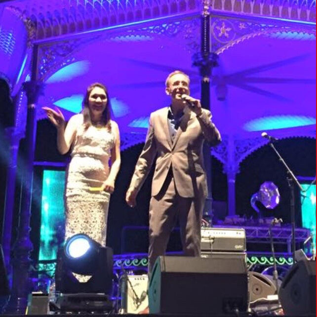 Lord Mayor Martin Haese and Lady Mayoress Genevieve Theseira-Haese New Years Eve celebrations Elder Park Adelaide