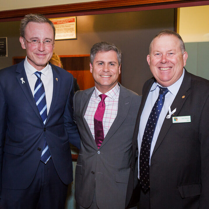 Lord Mayor Martin Haese with NPSP Mayor Robert Bria and PAEF Mayor Gary Johanson