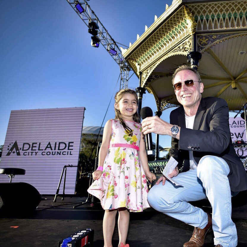 Lord Mayor Martin Haese at New Year's Eve celebrations Elder Park Adelaide
