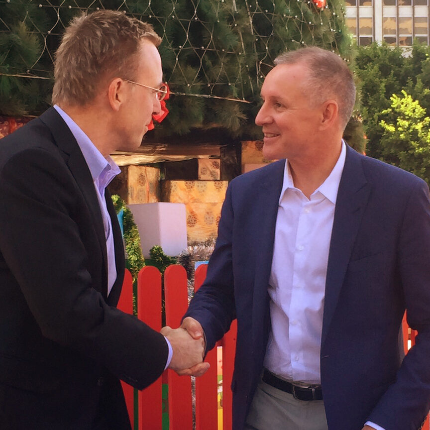 Lord Mayor Martin Haese with Premier Jay Weatherill MP