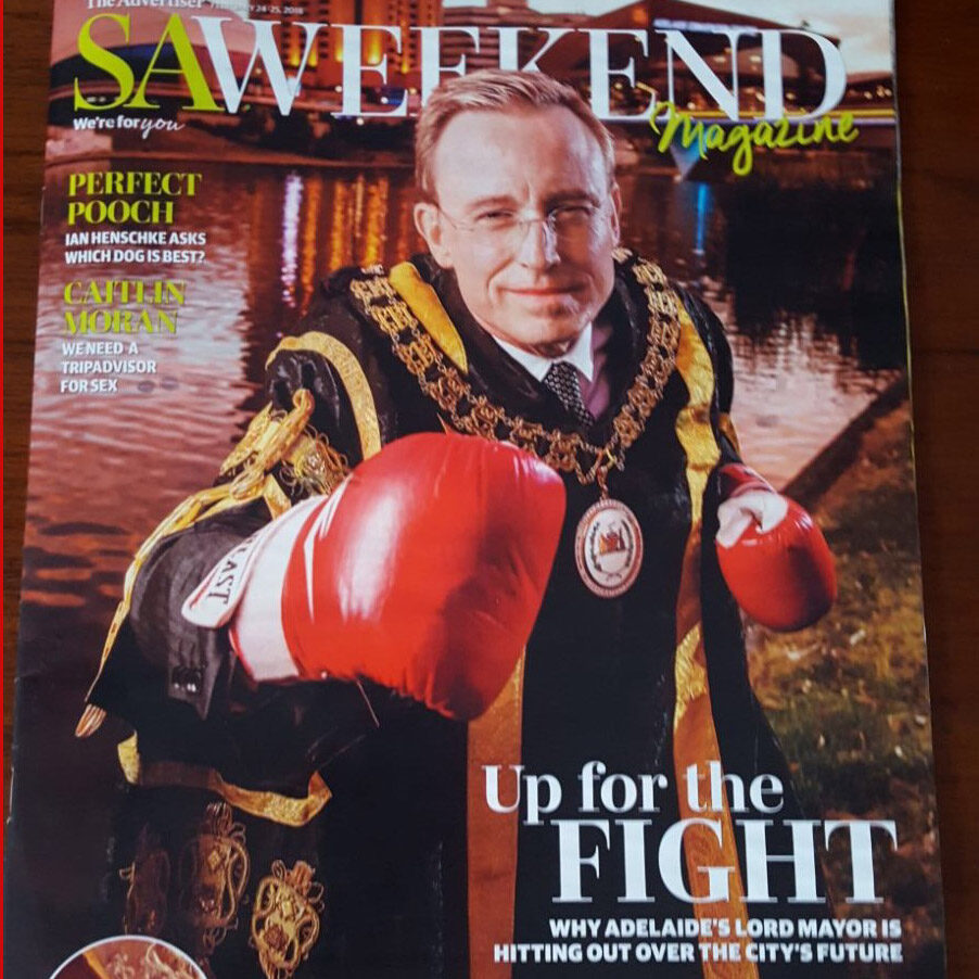 Lord Mayor Martin Haese up for a fight SA Weekend Magazine cover