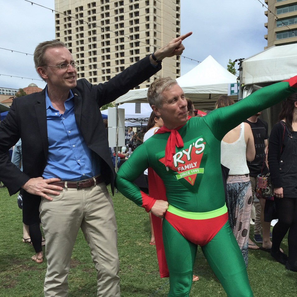 Lord Mayor Martin Haese Victoria Square Adelaide
