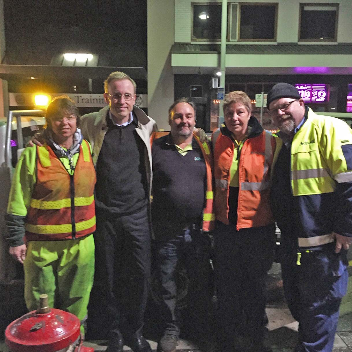Lord Mayor Martin Haese with the City of Adelaide Depot Team
