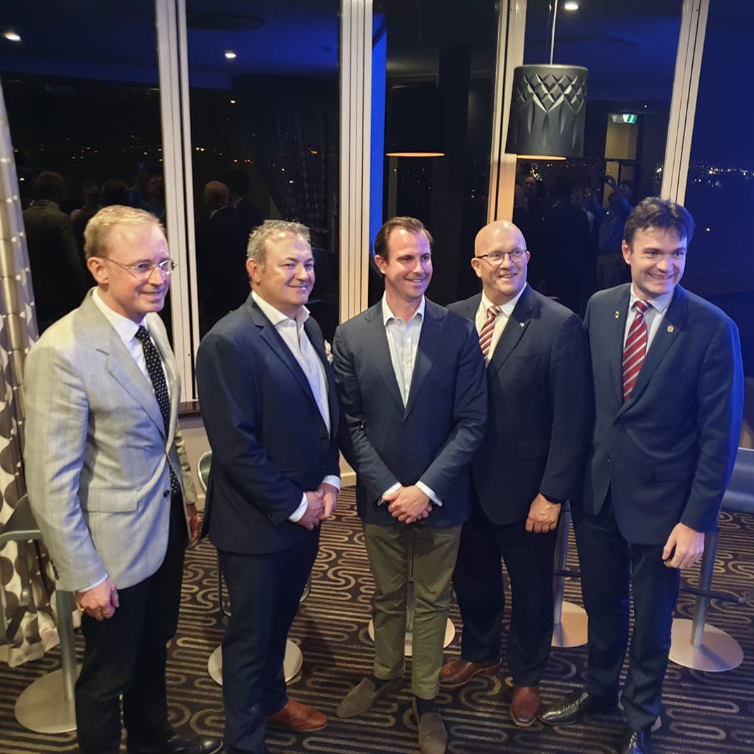Martin Haese Chairman of the Premier's Climate Change Council with Randal Tomich, James Stevens, the Honourable David Ridgway MLC and Shaun Osborn