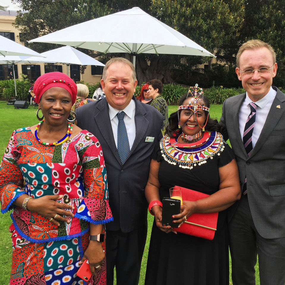 Multicultural Adelaide Lord Mayor Martin Haese with Mayor Gary Johansen City of Adelaide City of Port Adelaide Enfield