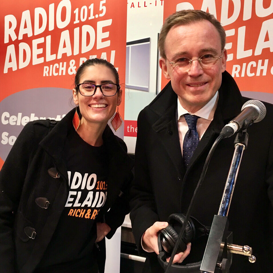 Radio Adelaide Studios with Jennie Lenman and Lord Mayor Martin Haese